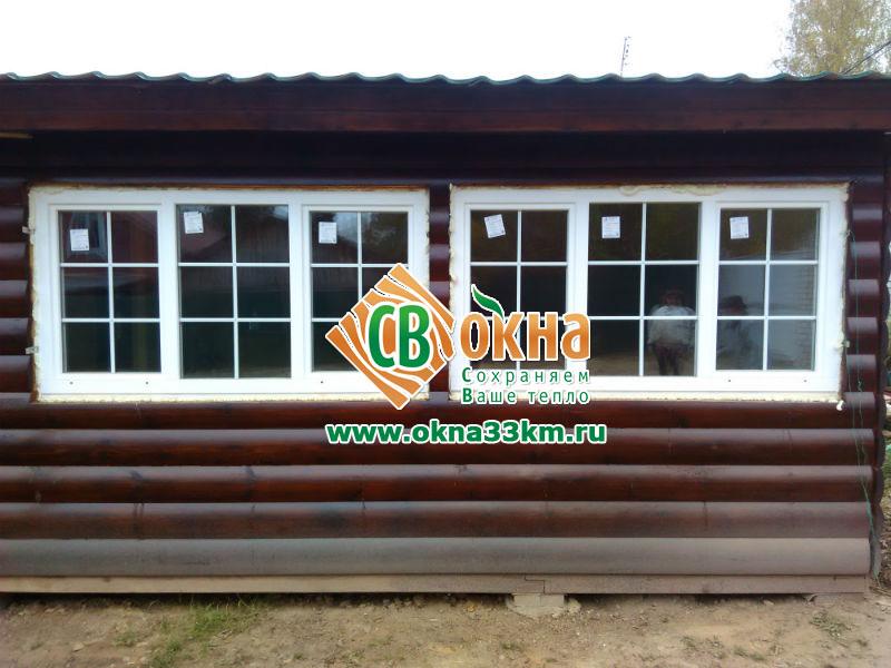 Деревянные окна СВ-ОКНА в частном доме Тульская обл.